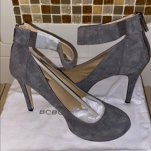 Gray Suede heels by BCBGeneration